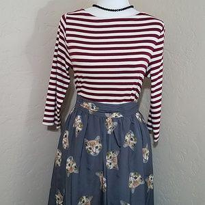 Modcloth Adorable Cat Skirt